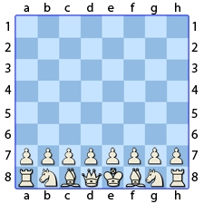 Chess Image 1: The white pieces