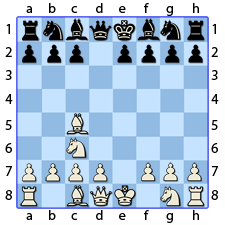 Chess Image 10: The King's Bishop moves to the fourth house in line with the Queen's Bishop