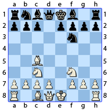 Chess Image 12: Plays King's Knight to the Bishop's third house