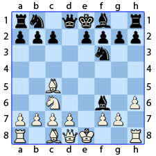 Chess Image 15: His Queen's Bishop takes the King's Knight