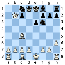 Chess Image 25: His Lady's Knight takes the Queen's Knight