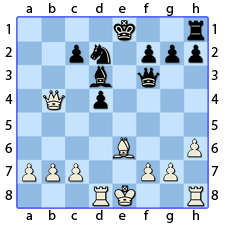 Chess Image 37: His Lady moves to three houses from the King's Bishop