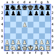 Chess Image 6: His King's Pawn takes the Lady's Pawn
