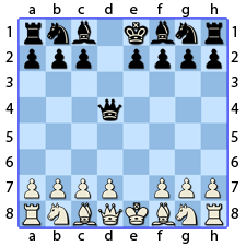 Chess Image 7: The Lady, to her fourth house, takes the Pawn that had taken hers
